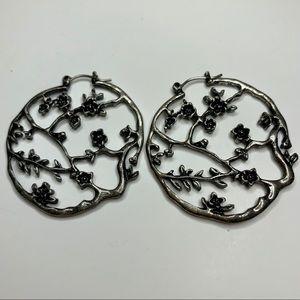 Japanese Cherry tree metal earrings